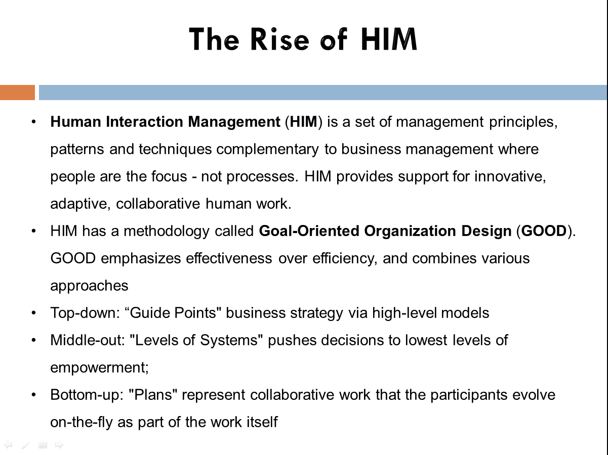 hcm him and agile are perfect together keeping agile an individual associate s goals are coordinated the goals of short term efforts which advance both causes